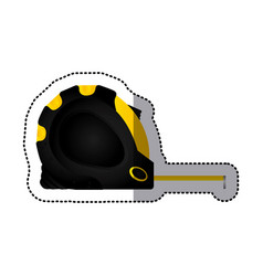 Sticker tape measure icon tool with black body vector