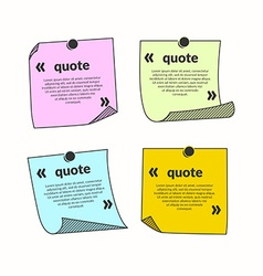 Template for quotation vector image
