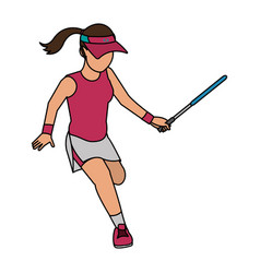Tennis player design vector