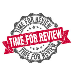 Time for review stamp sign seal vector