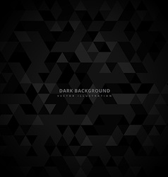 Abstract trianglulated dark background vector