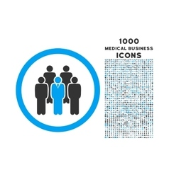 Staff rounded icon with 1000 bonus icons vector