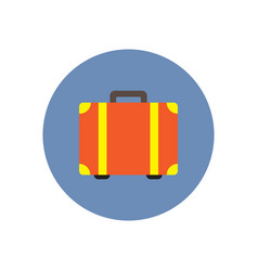 stylish icon in color circle travel suitcase vector image