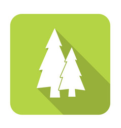 Fir trees flat icon vector