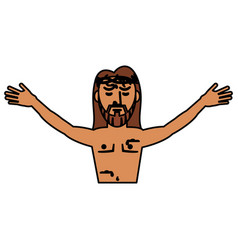 Jesus christ belief catholic vector