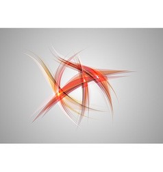 Abstract shapes on grey only red vector