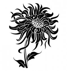 black flower vector image