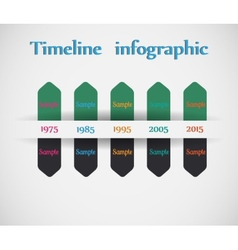 Timeline - different tooltips - infographic vector image