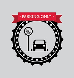 Parking design vector
