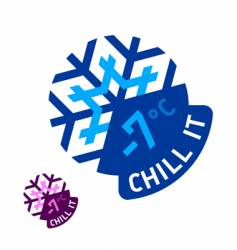 chill it vector image