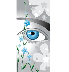 Flower eyes vector