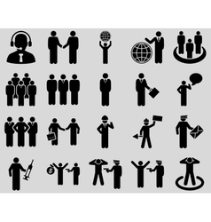 Management and people occupation icon set vector