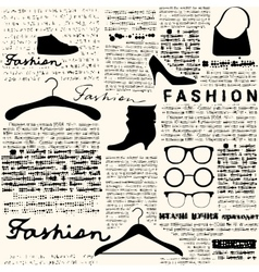 Newspaper fashion background vector