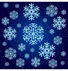 Texture of blue snowflakes on a blue background vector