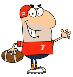Caucasian cartoon football man vector