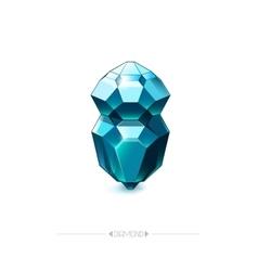 Diamond isolated on white background vector image
