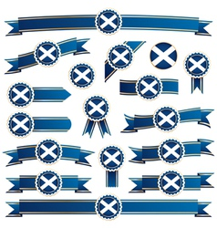 Scotland ribbons vector