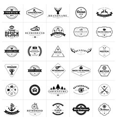 Set of vintage badges and labels vector