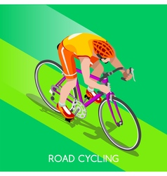 Cycling road 2016 summer games 3d isometric vector
