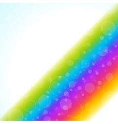 Raibow smooth light lines vector image