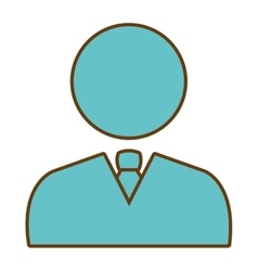 Business executive male pcitogram icon vector