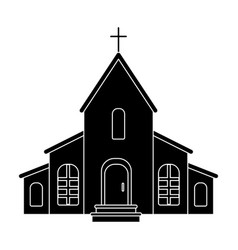 a church with a cross on the roof easter single vector image vector image