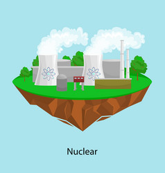 Alternative energy power industry nuclear power vector