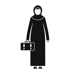 Arabic woman icon simple style vector
