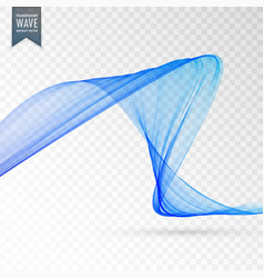 Blue wave transparent effect background vector