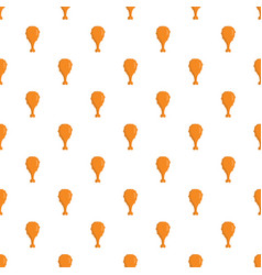 chicken thighs pattern seamless vector image