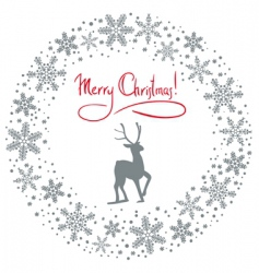 Christmas snow garland vector image vector image