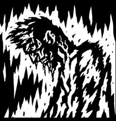 Demon is bleeding when its head is down vector