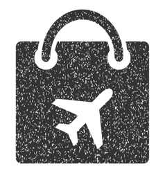 Duty free icon rubber stamp vector