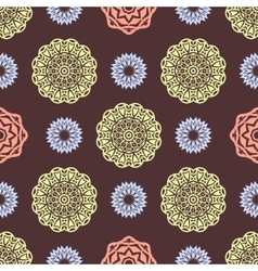 Ethnic floral seamless pattern7 vector