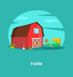 farm concept cartoon style vector image vector image