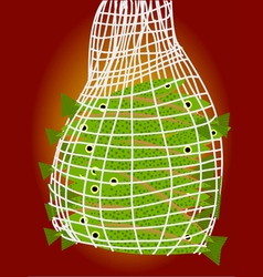 fish net with fish vector image vector image