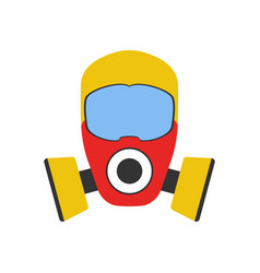 Gas mask icon fire departament equipment icon vector