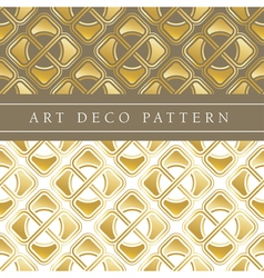 Gold flower shape seamless pattern in ar deco vector