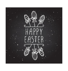 Hand-sketched easter typographic element vector image