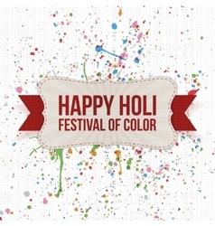 Happy holi festival of color label vector