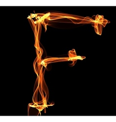letter in fire vector image vector image