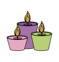 Lit candles icon image vector