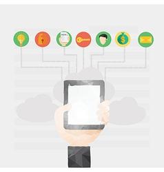 Modern flat design of online communication a vector