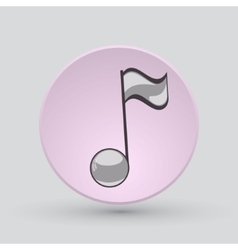 Note sing icon Musical symbol vector image vector image