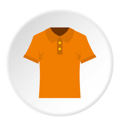 Orange men polo shirt icon circle vector