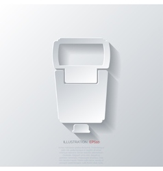 Photo camera flashlight vector image vector image
