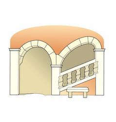Renaissance staircase vector