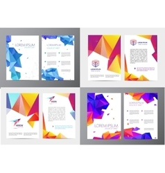 Set of document letter or logo style cover vector