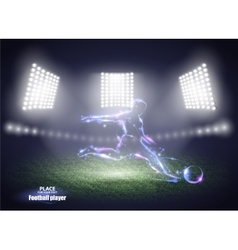 Stadium lights motion design football player vector