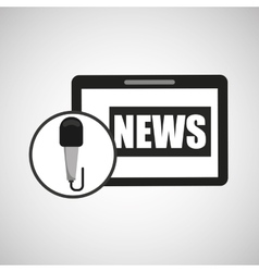 technology digital tablet news journal vector image vector image
